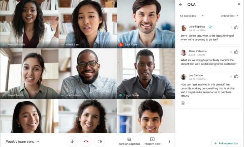 google-meet-gets-q&a-and-poll-features-for-paid-customers